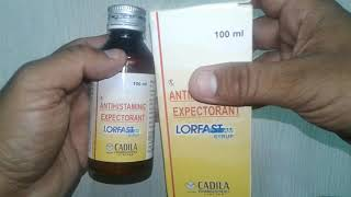 Lorfast AM Syrup review in Hindi Best Antihistaminic Expectorant