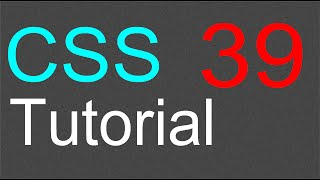 CSS Tutorial for Beginners - 39 - Text and images