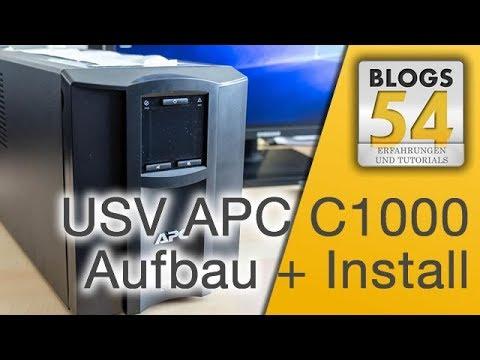 USV APC Smart-UPS SMC1000I aufbauen und die Unterbrechungsfreie Stromversorgung am Server einrichten