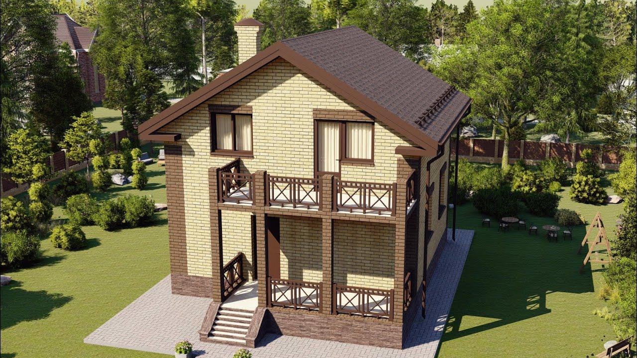 Проект маленького дома с мансардой 10 х 8 89 м2