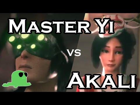 Akali và Master Yi ở xứ lonia