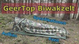 GeerTop Biwaksack Biwak Zelt Bivvy tent - Vorstellung - Aufbau - Test