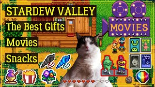 Stardew Valley The Best Gifts Movies and Snacks for Villagers