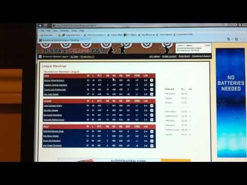 Video of Baseball Sim