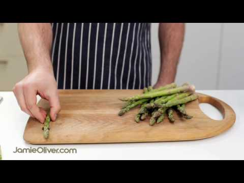 How To – prepare asparagus, with Jamie Oliver's mate Pete