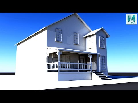 Maya 2017 tutorial : How to model a House
