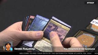 Pro Tour Oath of the Gatewatch Day 1 Feature draft Shuhei Nakamura