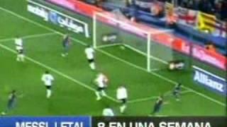 Messi, 8 goles en 1 semana