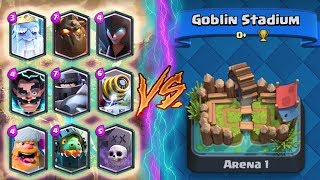 ALL LEGENDARY Deck TROLLING Arena 1! - Clash Royale - *FUNNY MOMENTS* (Drop Trolling #83)