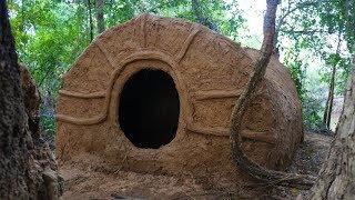 Primitive Tool : Build primitive mud house ( Using grass with mud )   Kholo.pk
