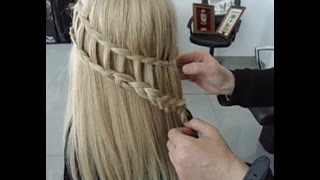 How To Do Ladder Braid-Waterfall Hairstyles & Ladder Braid Combo Hairstyle