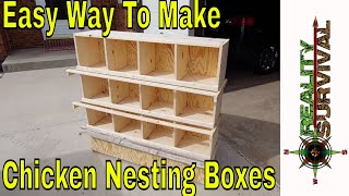 Easy Way To Build Chicken Nesting Boxes!