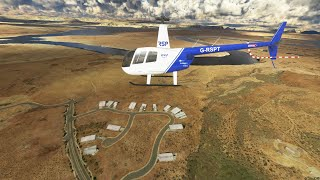 MSFS 2020 _ Robinson R44 Raven II Helicopter Project _ KPGA _ Monument Valley _ Usa