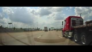 Driving on Interstate 10 through Houston to Columbus, Texas
