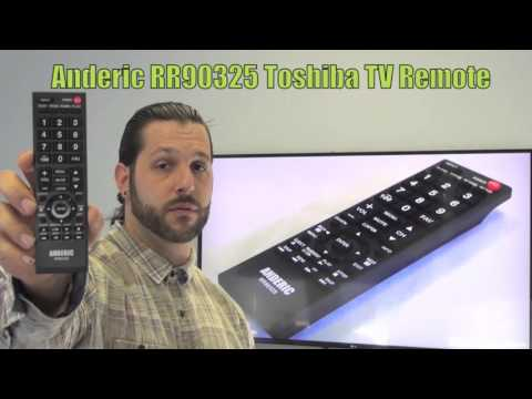 ANDERIC RR90325 for Toshiba TV Remote Control
