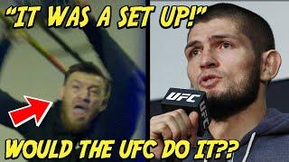 Investigating Khabib's Claim UFC SET UP McGregor Bus Attack!?!?