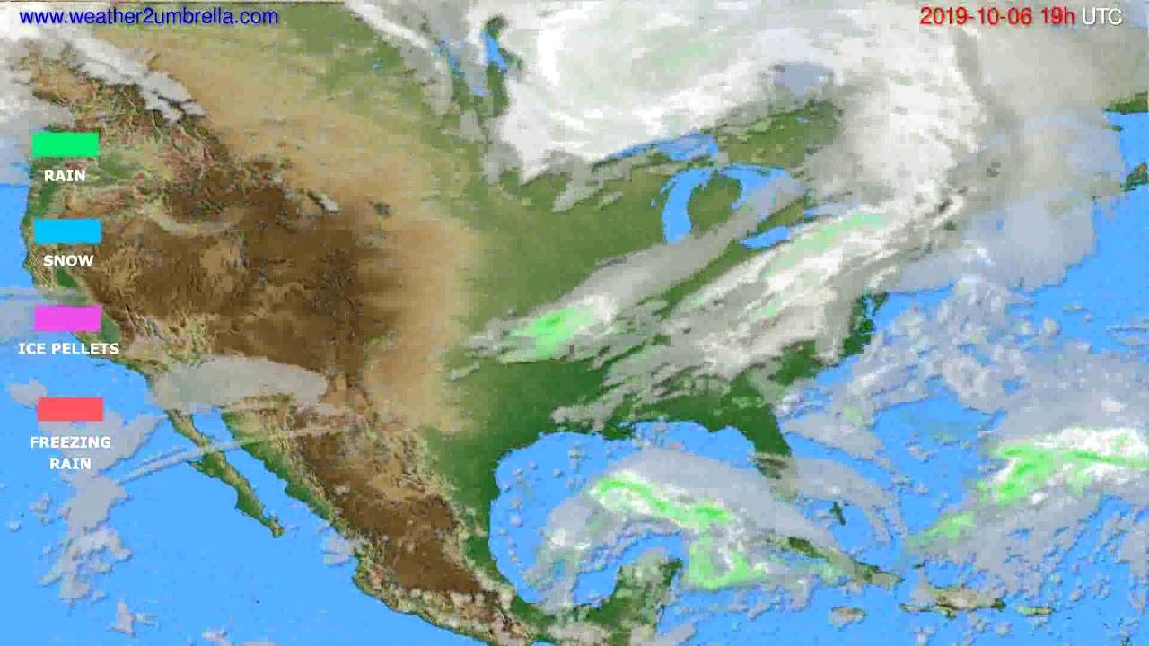 Precipitation forecast USA & Canada // modelrun: 12h UTC 2019-10-03
