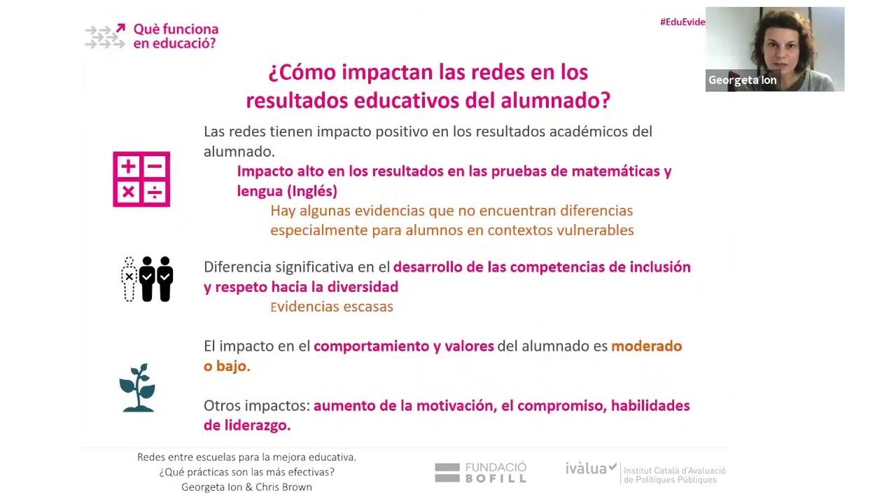 Xarxes escolars: com impacten en l'alumnat i com són les més efectives? - Georgeta Ion