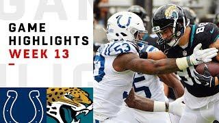 Colts vs. Jaguars Week 13 Highlights | NFL 2018