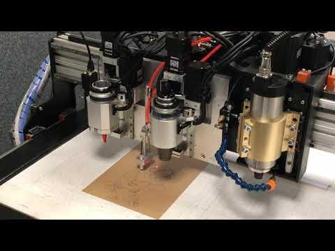 Работа маркера на режущем плоттере Моделист-X-PLT