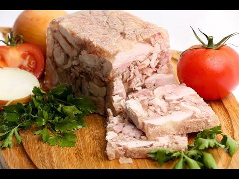 Сальтисон из свиной рульки от Луча. पोर्क अंगुली saltison. Pork knuckle saltison. 猪肘盐渍