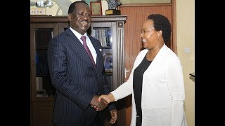 Kenyans react as Raila, Waiguru reconcile