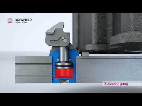 ROEMHELD- Kompaktspanner mit pneumatischer Spannkontrolle