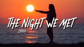Alle Farben   The Night We Met (Lyrics)