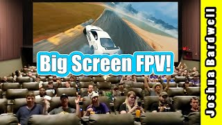 We showed Flowstate: the FPV Drone Documentary on a big screen!