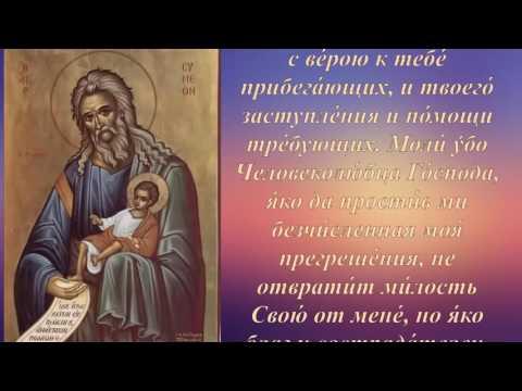 Молитва святому праведному Симеону Богоприимцу о здравии младенцев