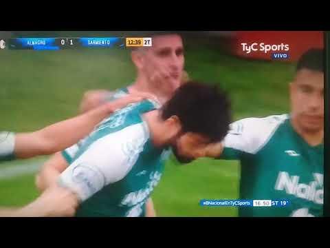 Primer gol de Sarmiento frente a Almagro