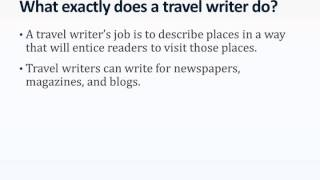 What is a Travel Writer?