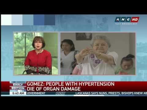 Lhypertension artérielle symptomatique se produit dans