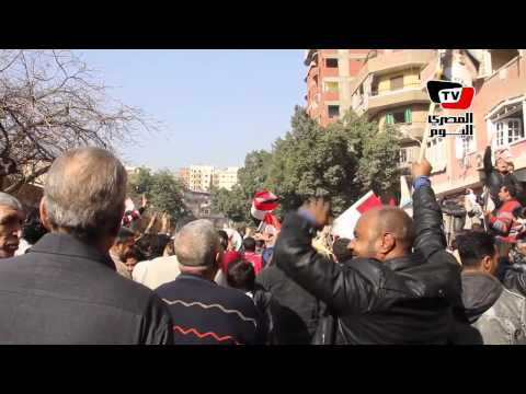 متظاهرون أمام معهد مندوبى الشرطة: سيسي يا بطل مصر في خطر