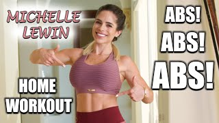MICHELLE LEWIN: Various Ab Exercises // Home Workout With No Equipment