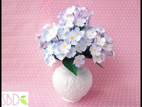 Vaso di Fiori di carta (home decor) - DIY Paper flowers Vase