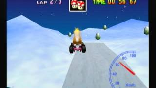 "Mario Kart 64 - Frappe Snowland 3lap 2'02""48"