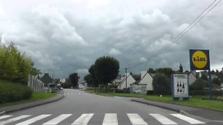preview picture of video 'Driving Along Rue Duguay-Trouin & Rue de Callac, Carhaix-Plouguer, Finistère, France 14th July 2012'