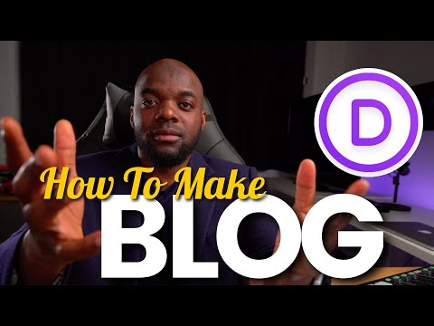 How to make a blog on Divi