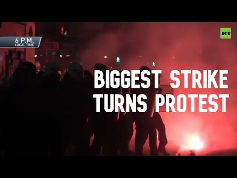 Biggest strike in years turns into days of protests in France over pensions reform