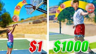 $1 vs $1000 TRICKSHOT BATTLE!