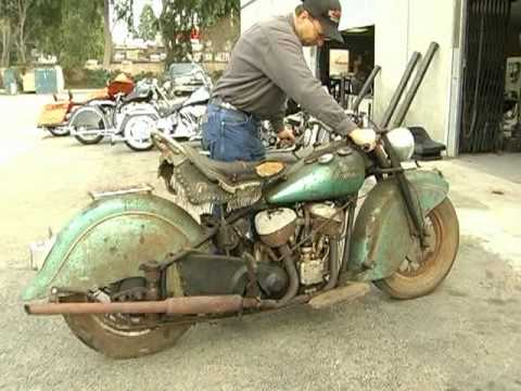 1948 Indian Chief Motorcycle Resurrected After 40 Years
