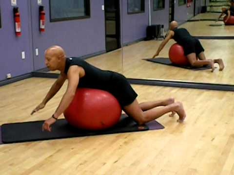 Lower Back Exercise--Strengthen lower back with the ball