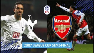 FULL GAME | Finely poised as Arsenal face Tottenham for 2007 League Cup Final place!