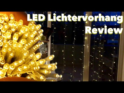 LED Lichtervorhang von Sinobest im Test - Geht auch ohne Weihnachten klar  oP REVIEW