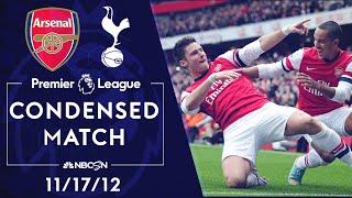 Premier League Classics: Arsenal v. Tottenham | CONDENSED MATCH | 11/17/12 | NBC SPORTS