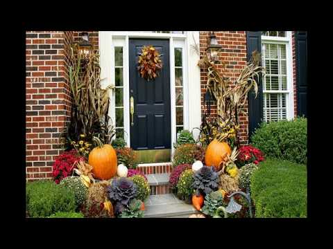 25 Cute and Easy Outdoor Fall Decorations Ideas 2018