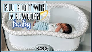 *REALISTIC* FULL NIGHT WITH A NEWBORN | 4 WEEKS OLD + EXCLUSIVELY PUMPING