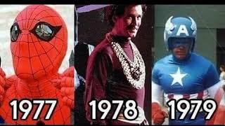 Наши любимые супергерои тогда и сейчас