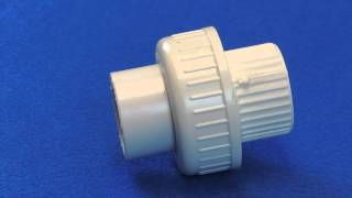 """Union for Schedule 40 PVC Pipe (""""O""""-Ring Type) (Slip x Slip)"""